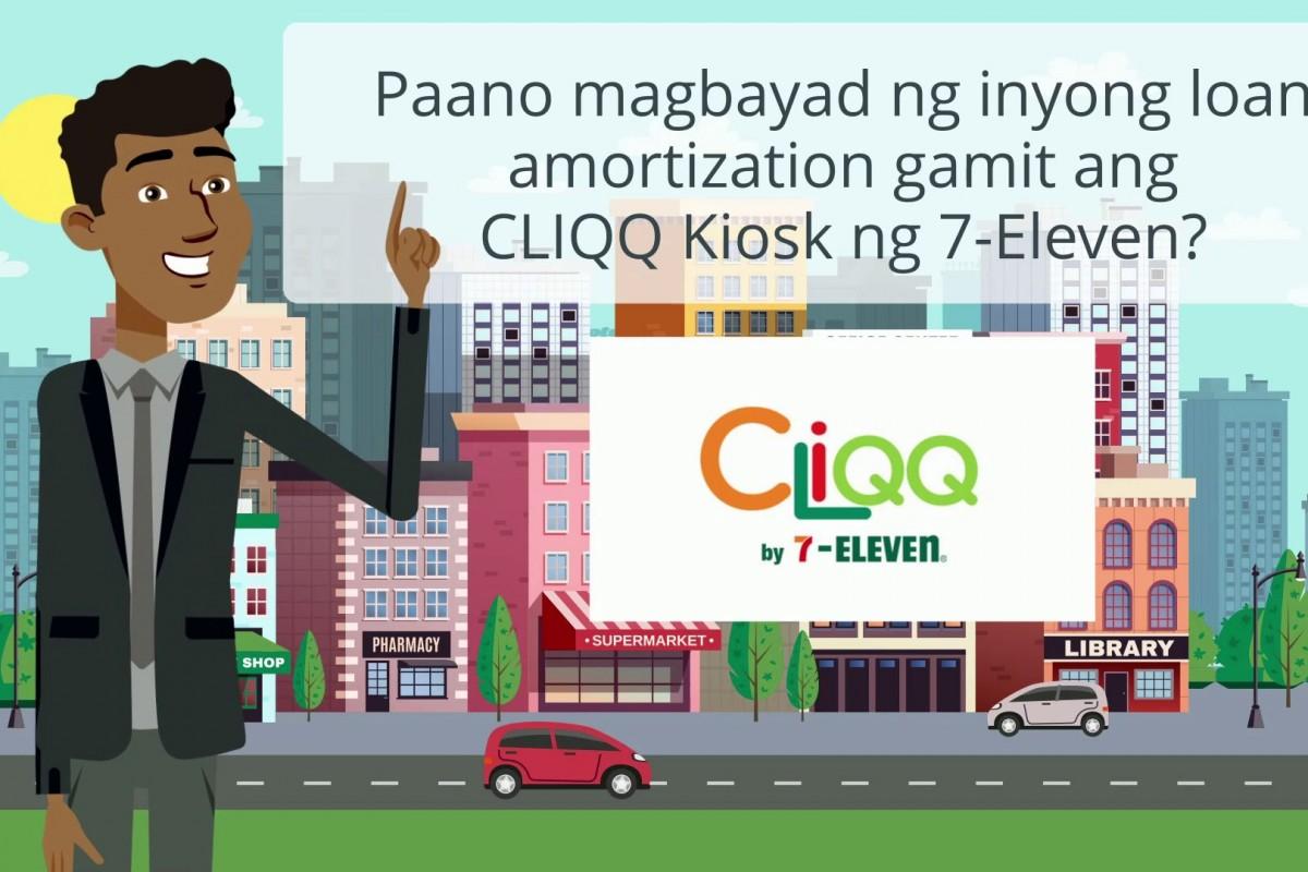 Paano magbayad ng inyong loan amortization gamit ang CLIQQ Kiosk ng 7-Eleven?